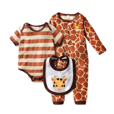 baby童衣-條紋動物裝連身衣-3件套-61037
