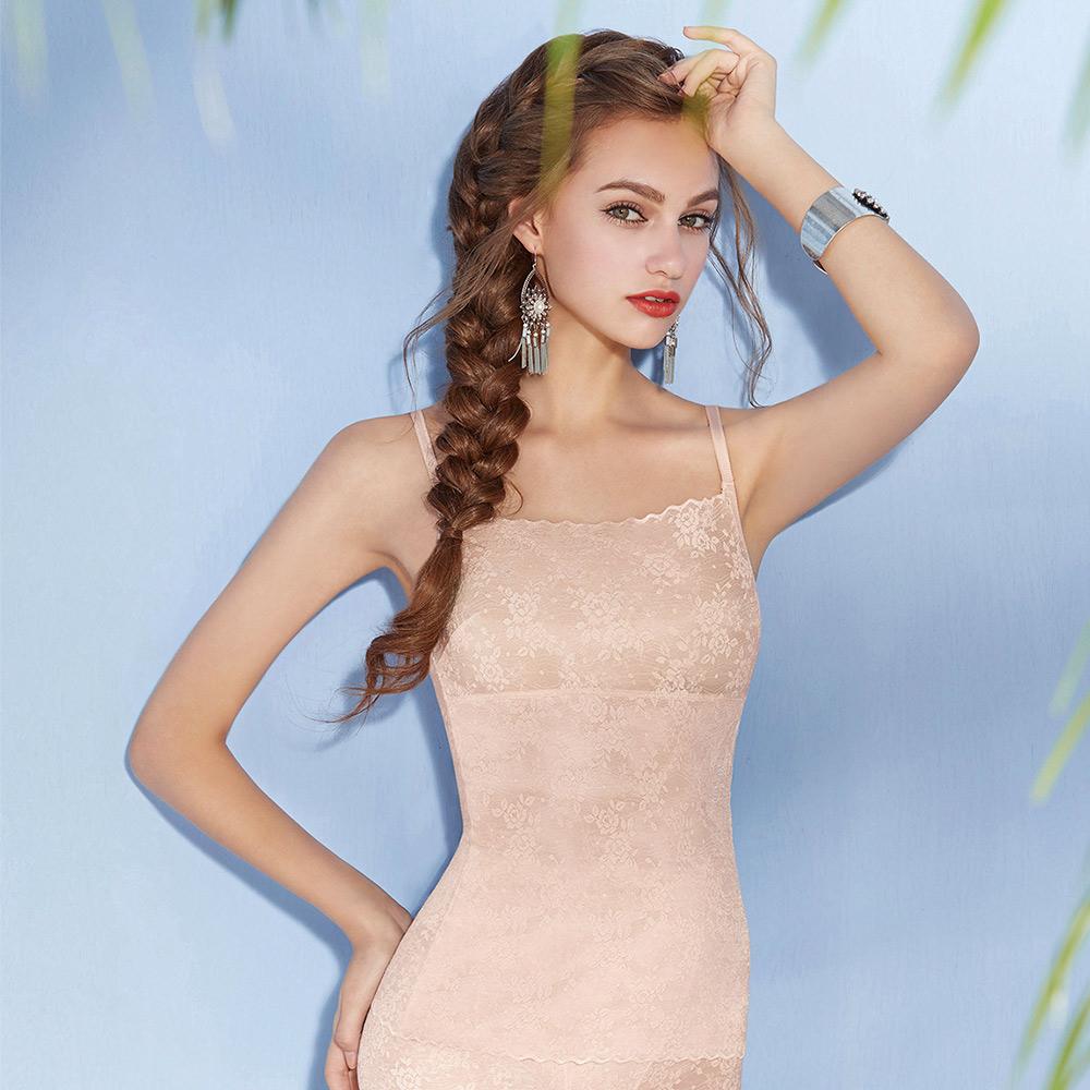 曼黛瑪璉-美型顯瘦 輕機能 細肩帶平口小可愛S-XL(裸麥膚)