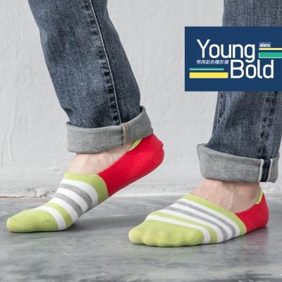 蒂巴蕾 Young Bold 男用彩色隱形襪-條紋