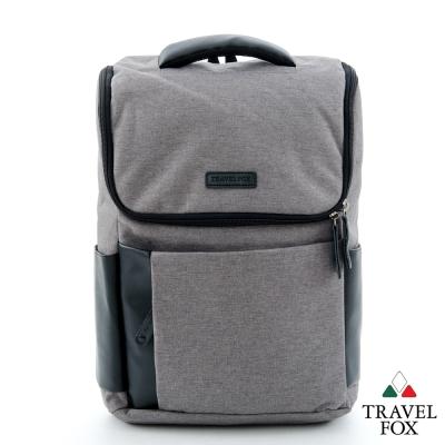 Travel Fox旅狐 筆電後背包 商務時尚 型男筆電後背包 - 簡單灰