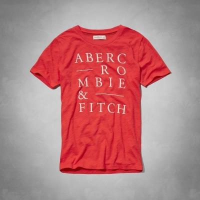 AF a&f Abercrombie & Fitch 女T恤 紅色 0019