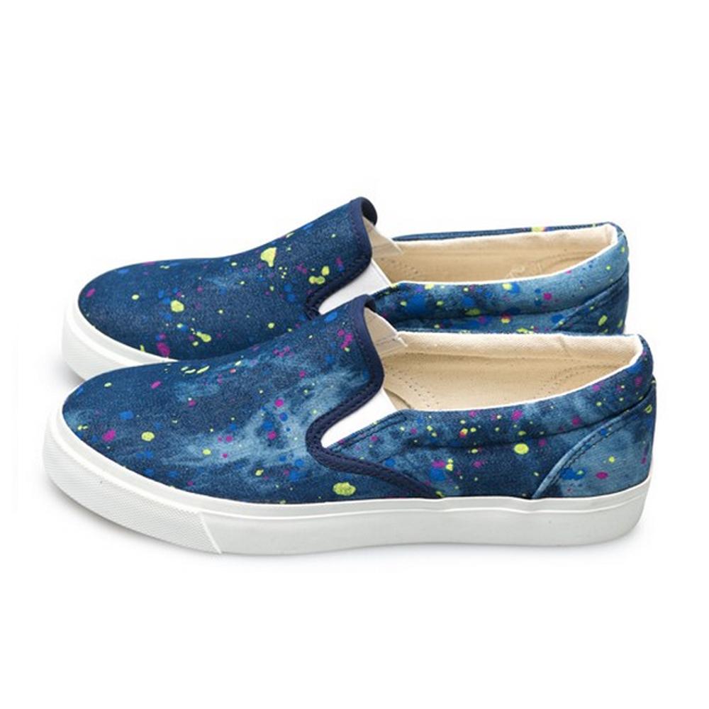 FUFA  MIT 街頭時尚懶人鞋 (U61)-點深藍