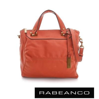 RABEANCO OL 時尚粉領系列菱形包(小) - 橘