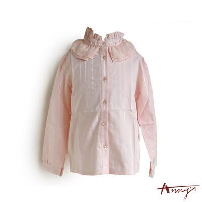 大荷葉領造型長袖襯衫*1250粉