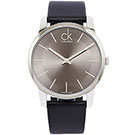 CK City 經典款極簡男性皮革手錶(K2G21107)-灰黑/43mm