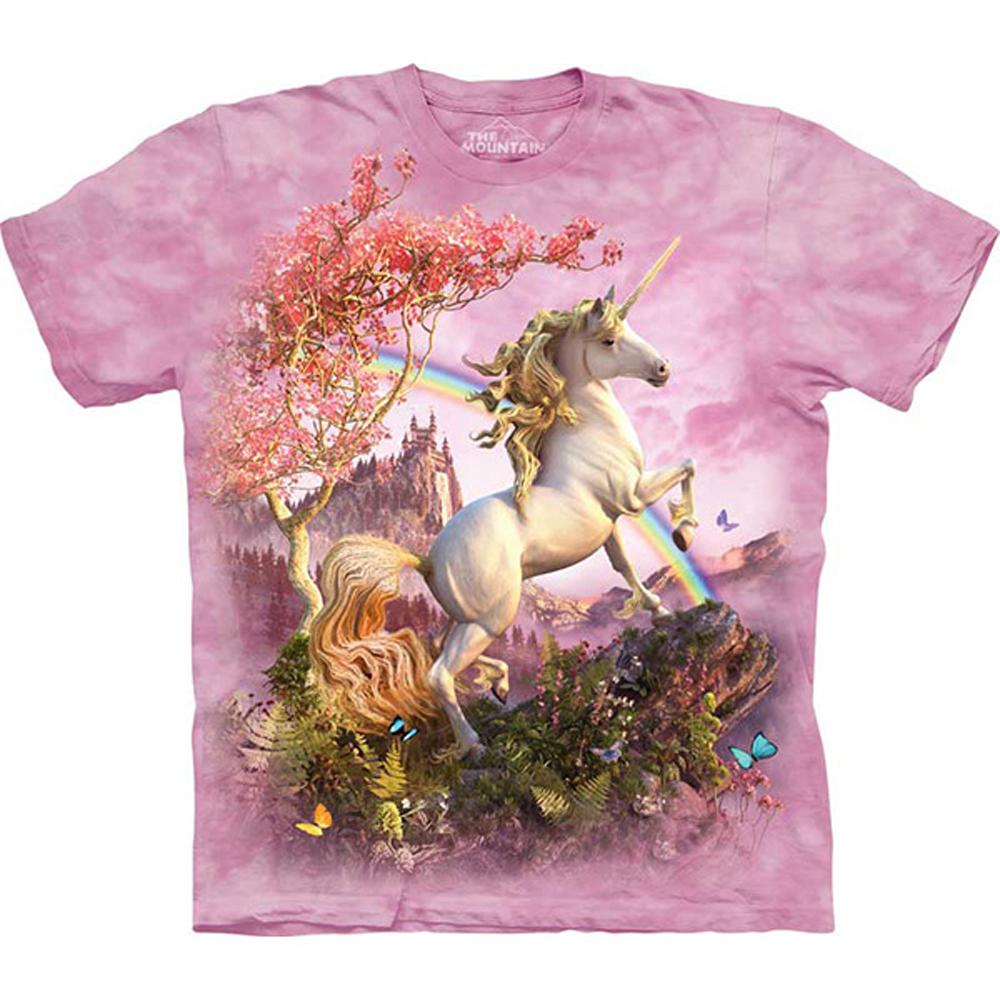 摩達客 美國進口The Mountain 絕美獨角獸 純棉環保短袖T恤