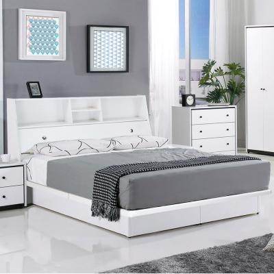 群居空間 卡恩5尺掀床房間組(床頭箱+掀床+床墊)-白色