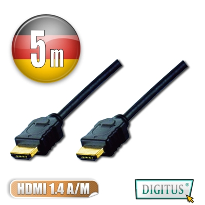 曜兆DIGITUS HDMI 1.4a圓線5公尺typeA