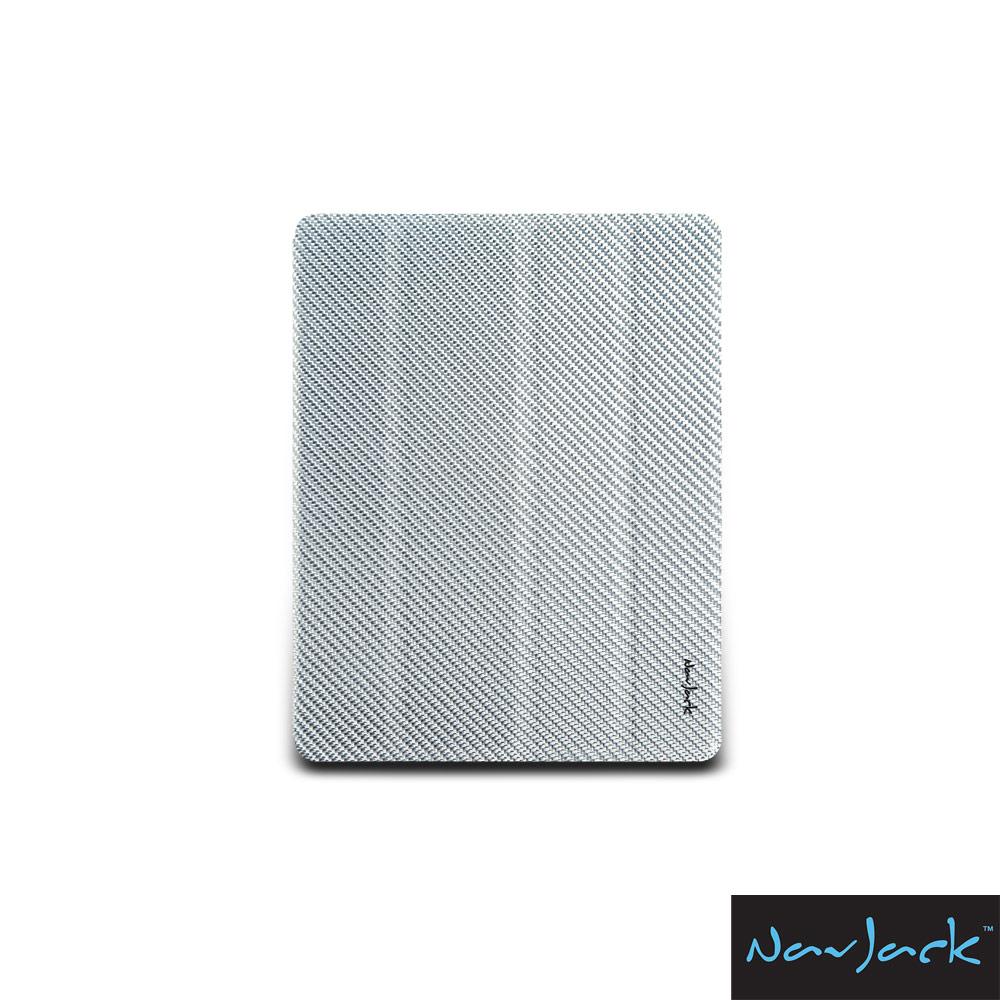 NavJack Corium 系列 New iPad 玻纖多功能保護套 - 亮銀色