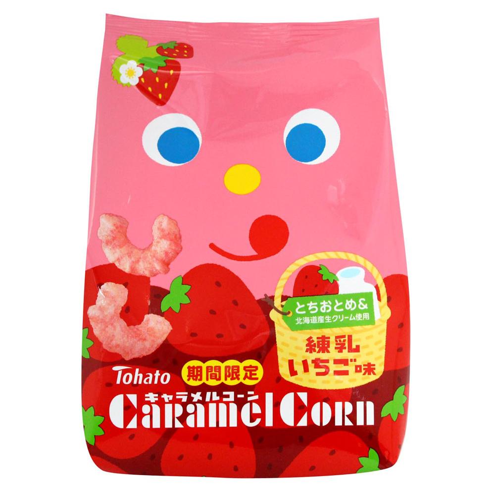 東鳩 焦糖玉米脆果-草莓煉乳(75g)
