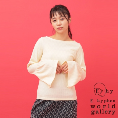 E hyphen  優雅喇叭袖設計針織上衣
