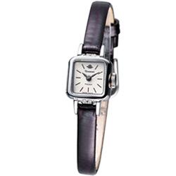 Rosemont 柏林1928系列 袖珍淑女錶-白深咖啡皮/15x14mm