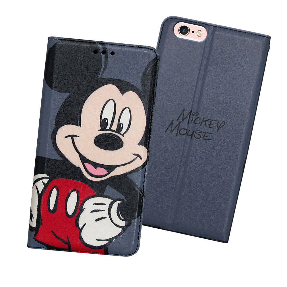 迪士尼正版iPhone 6/6s plus 5.5吋手繪風磁力皮套(手繪米奇)