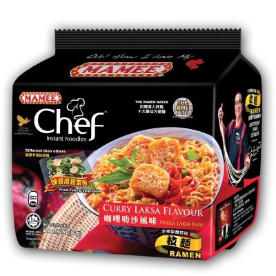 MAMEE金廚 咖哩叻沙風味麵(80gx4入)