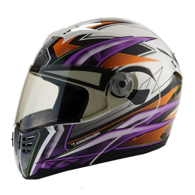 GP-5 722 風速全罩可掀式安全帽-橘紫-XL