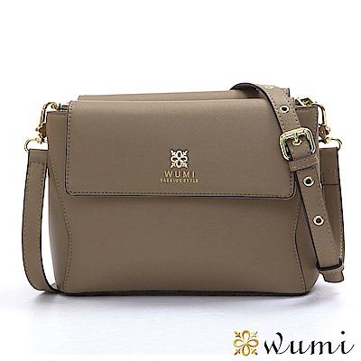 WuMi 無米 葛蒂絲美型雙層斜背包  卡其褐