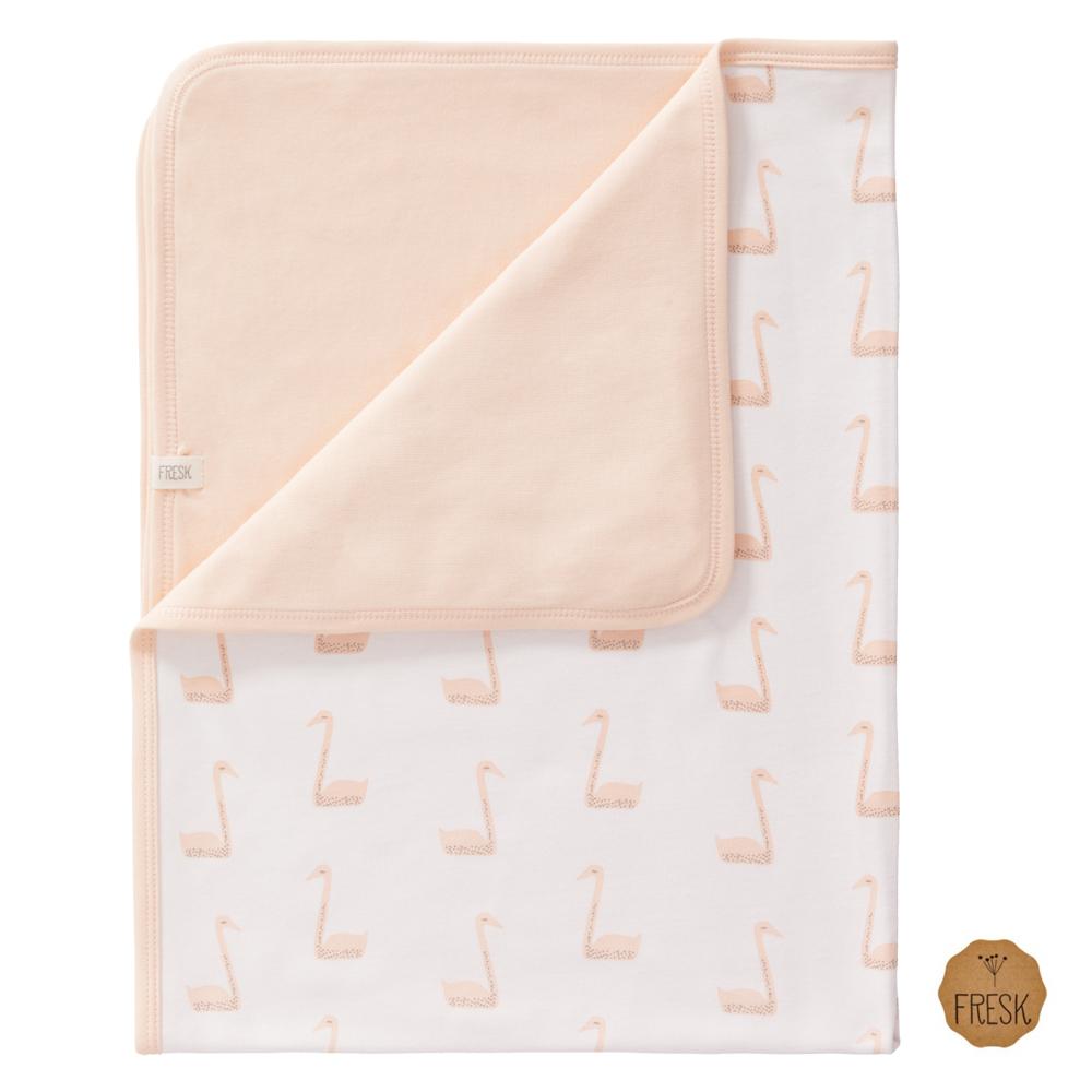 荷蘭 FRESK 天然有機棉嬰兒毯 (蜜桃天鵝)