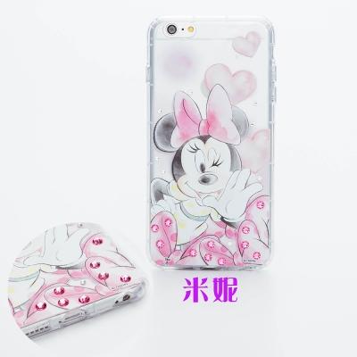 Disney迪士尼iPhone 6/6S Plus防摔氣墊空壓保護套-淡彩俏皮