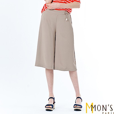 MONS 簡約質感七分寬褲