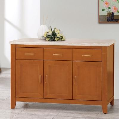 品家居 威爾森4尺石面餐櫃-120x45.5x82cm-免組