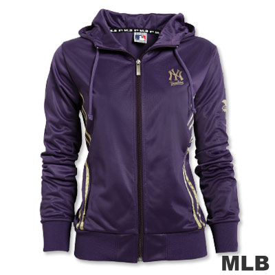 MLB-紐約洋基隊金條運動外套-紫(女)