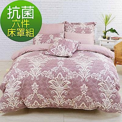 LooCa典藏奢華抗菌柔絲絨六件式床罩組(雙人)