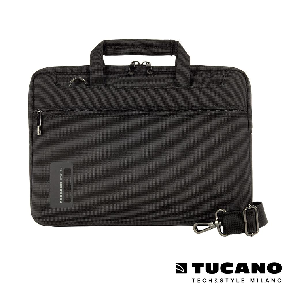TUCANO WORK_OUT Air 11吋時尚亮彩薄型側背包-黑