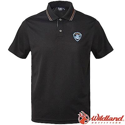 Wildland 荒野 0A61616-54黑色 男Coolmax排汗POLO衫