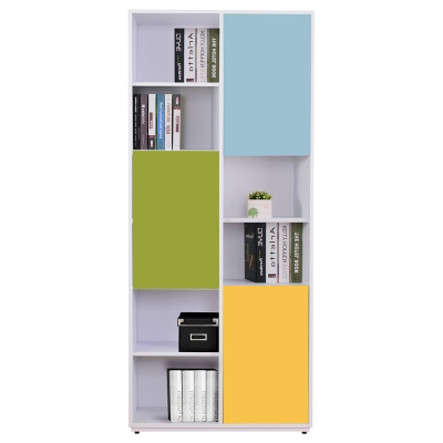 AT HOME-芬妮2.7尺彩色三門書櫃-右