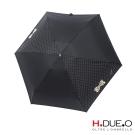 義大利H.DUE.O蝴蝶結抗UV五折手開傘 -黑白