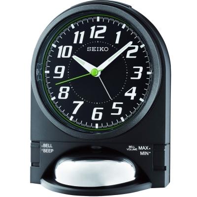 SEIKO精工 數字座鐘造型貪睡鬧鐘-黑 QHK036K-5.5X11.5cm