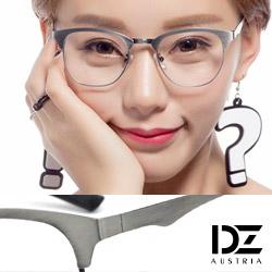 DZ 復古做舊金屬 平光眼鏡(拉絲銀系)