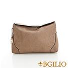 義大利BGilio-優雅簡約水染牛皮隨身小包-杏色2046.001D-06