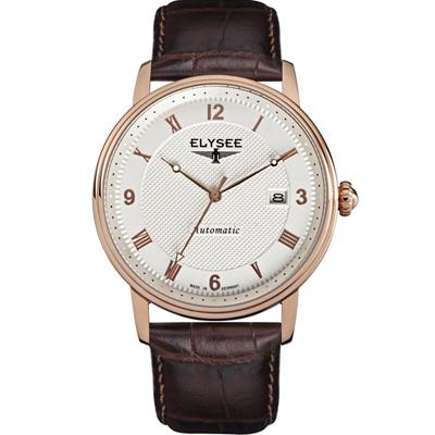 ELYSEE Monumentum 紳士自動機械錶-白/41mm