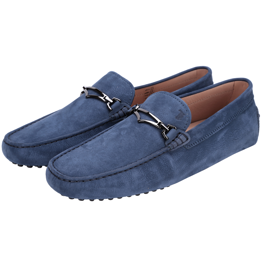TOD'S Gommino 麂皮豆豆休閒鞋(男鞋/深藍色)