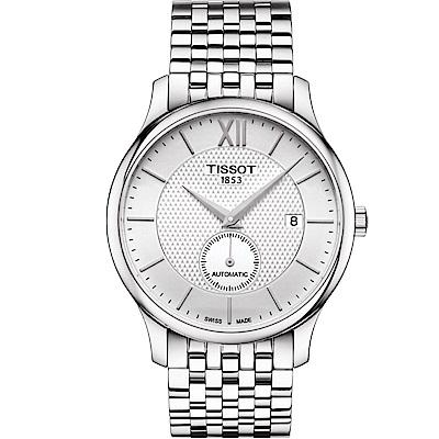 TISSOT TRADITION 小秒針機械錶(T0634281103800)