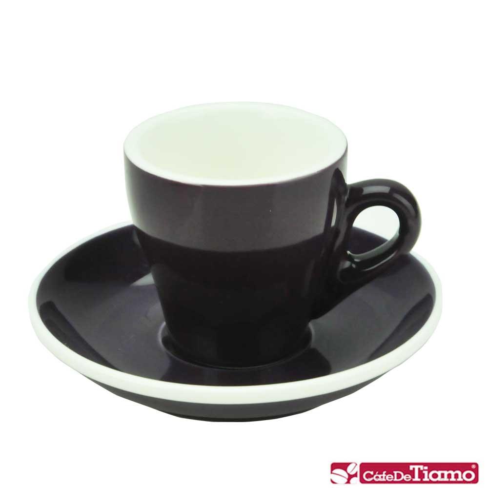 Tiamo 17號鬱金香濃縮杯盤組5客 90cc-紫色(HG0850P)