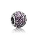 Pandora 潘朵拉 紫色水鑽 純銀墜飾 串珠