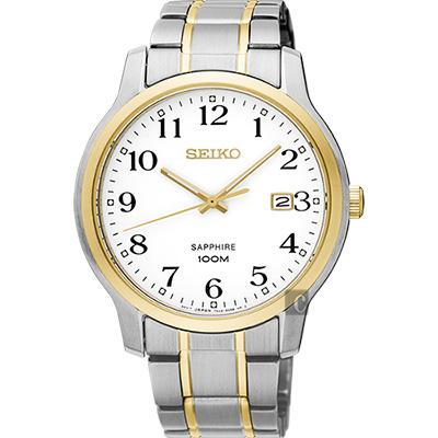 SEIKO精工 CS系列城市戀人腕錶(SGEH68P1)-白x雙色版/41mm