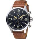 Timberland風潮再造時尚腕錶(TBL.15266JS 02)-45mm/黑x咖啡