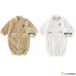 Nishiki 日本株式會社 可拆帽毛毛熊熊長袖連身衣