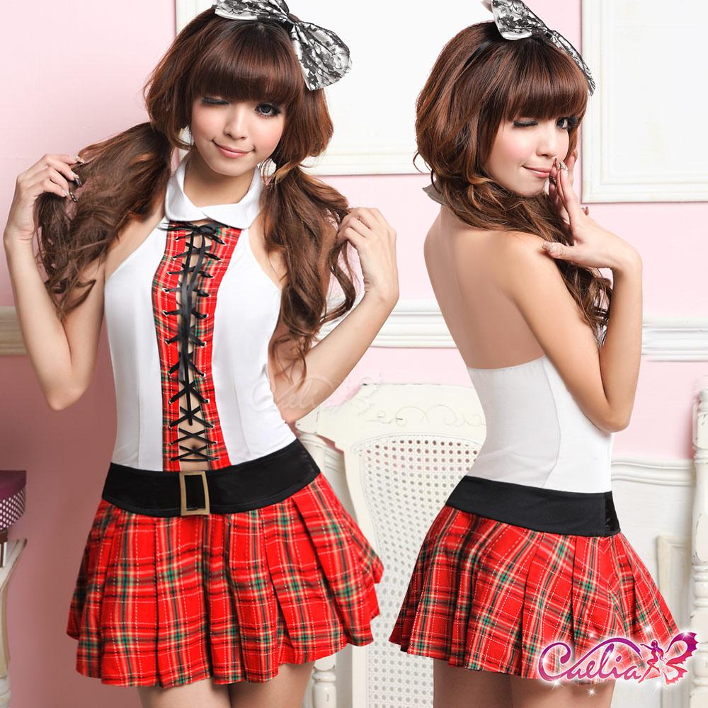 【Caelia】甜心女孩!格紋俏麗學生服