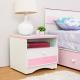 Birdie南亞塑鋼-貝妮1.6尺粉色塑鋼一抽床頭櫃-48x43x45cm product thumbnail 1
