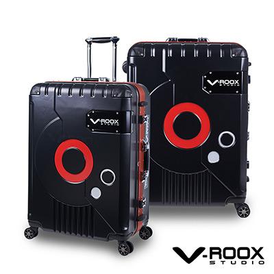 V-ROOX ZERO  28吋 霧黑(紅框)   時尚潮版 撞色太空艙 鋁框行李箱