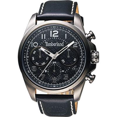 Timberland 軍事絕地任務時尚腕錶-黑/46mm