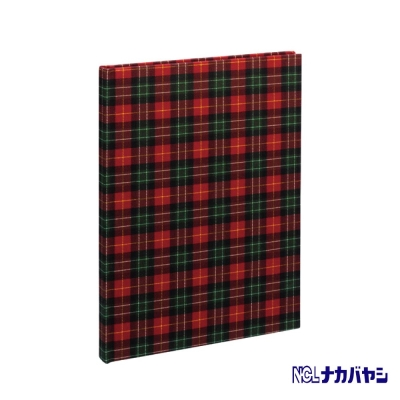 日本 Nakabayashi 自黏相本 麻布系列 格紋相本(紅)