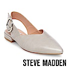 STEVE MADDEN-COURTNEY-尖頭低跟大圓扣涼鞋-灰色