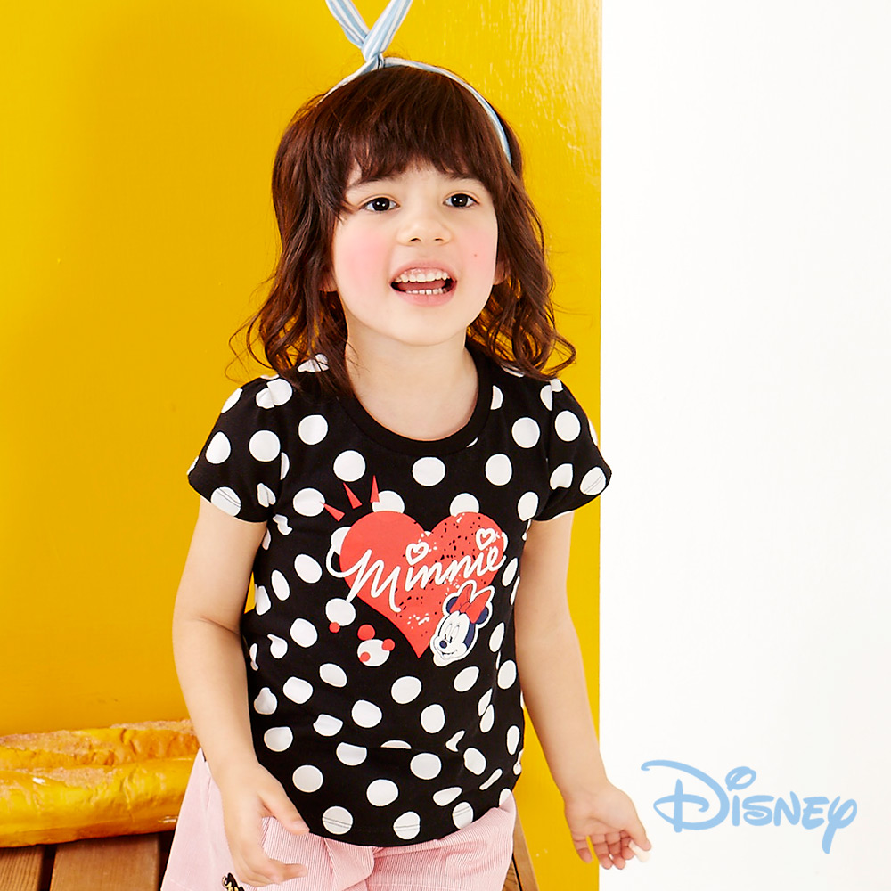 Disney甜心米妮上衣 黑色