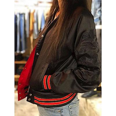 女裝 棒球外套 紅黑雙面穿 - Levis