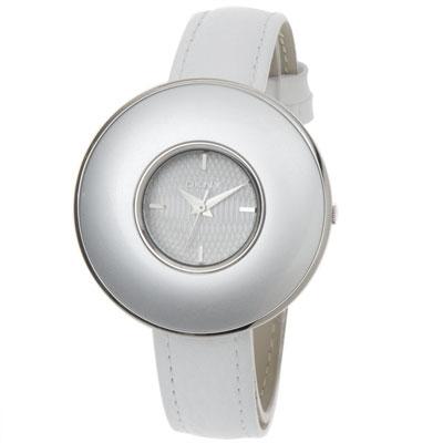 DKNY 簡潔魅力時尚皮帶腕錶-白/41mm
